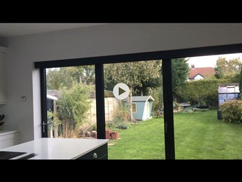 Motorised bi fold door blinds